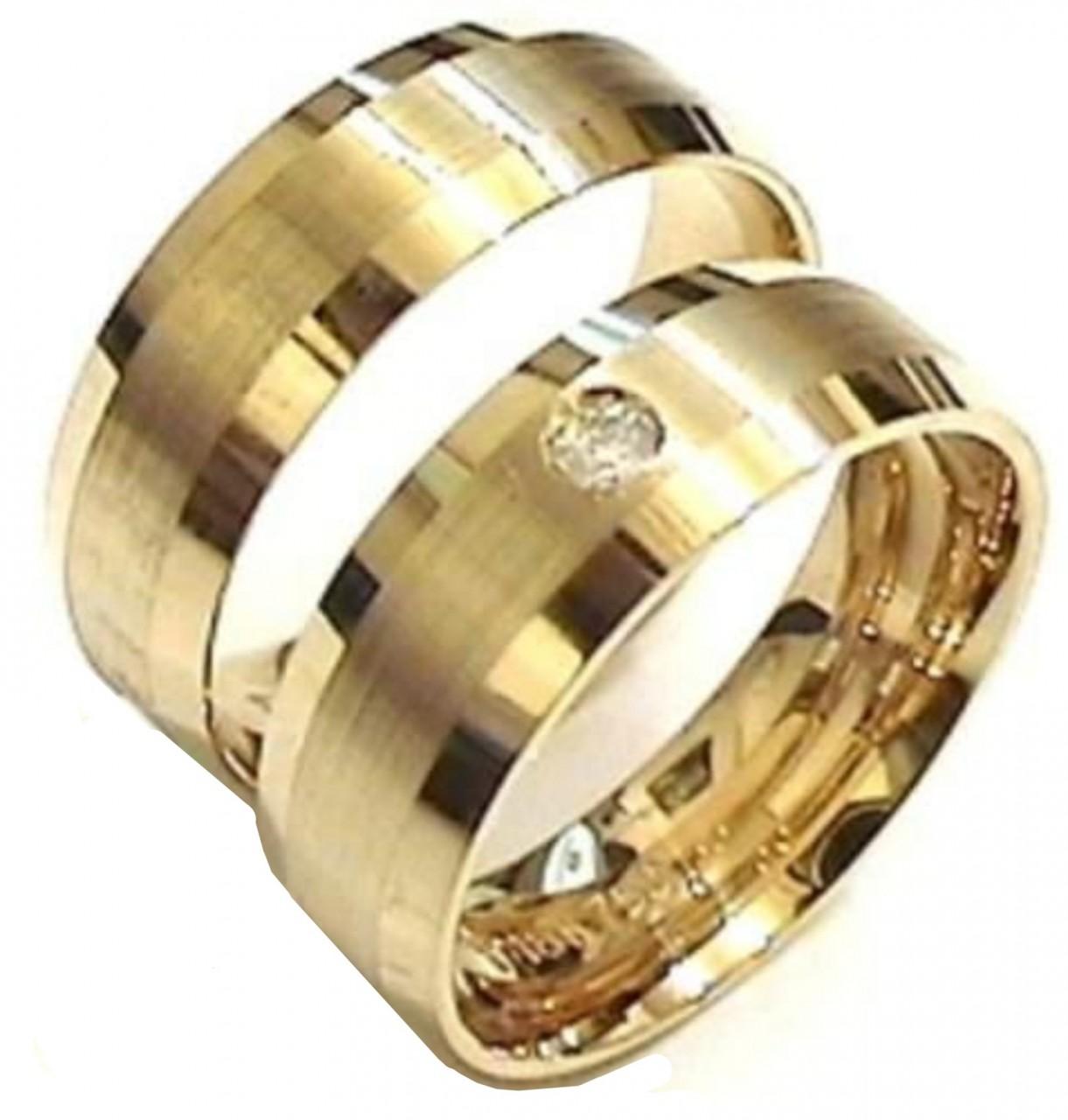 7c89df4e834b0 Par de aliança ouro 18k    - O Garimpo - vitrine online