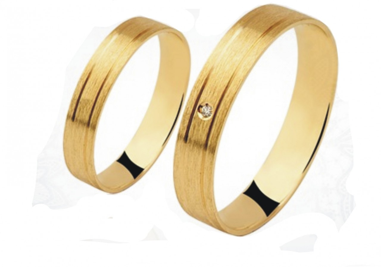 df7a3d86e314f Par de aliança ouro 18k c  2 risco - O Garimpo - vitrine online