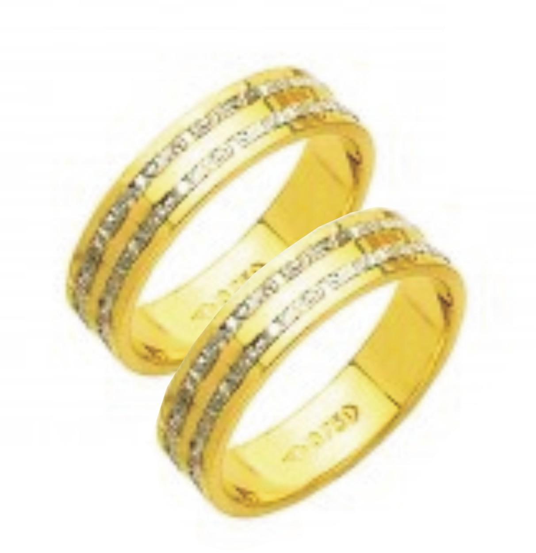 bbf2b568f24d2 Par de aliança ouro 18k     - O Garimpo - vitrine online