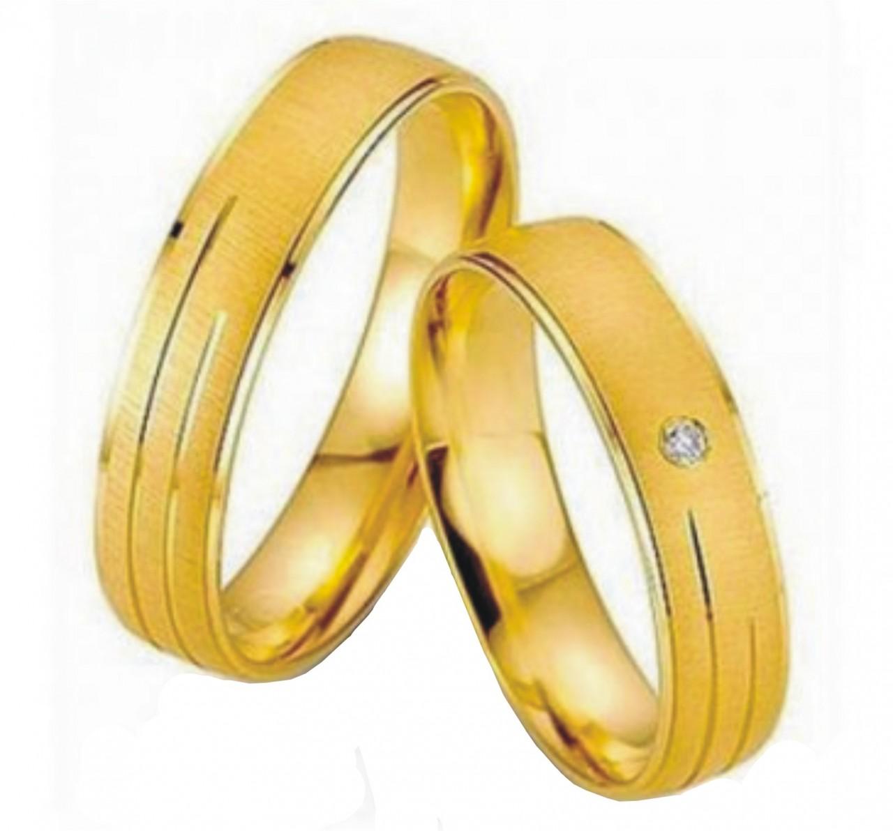 a02fec5eb27ad Par de aliança ouro 18k- 750 - O Garimpo - vitrine online