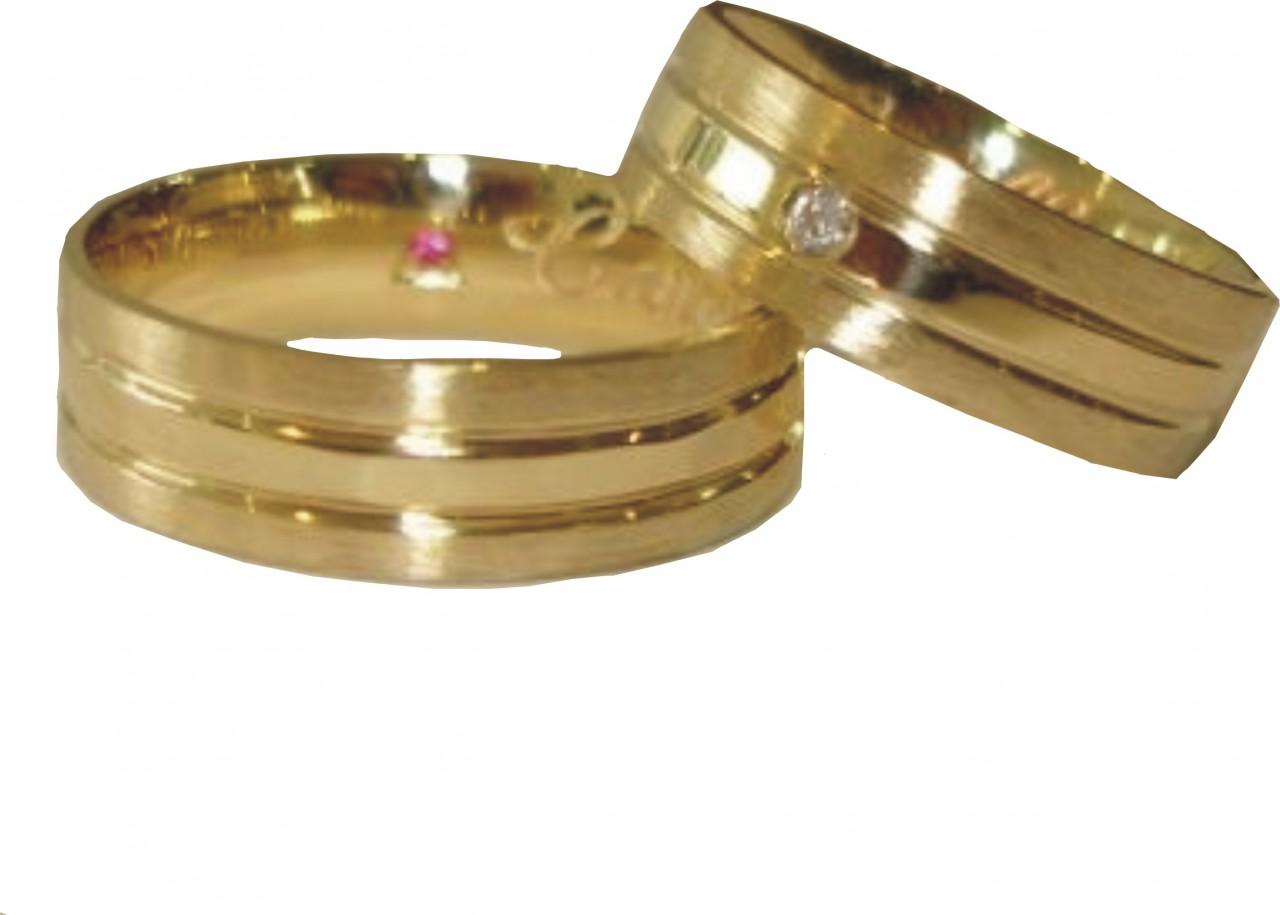 f91ee66be2bef Par de aliança ouro 18k  750 - O Garimpo - vitrine online