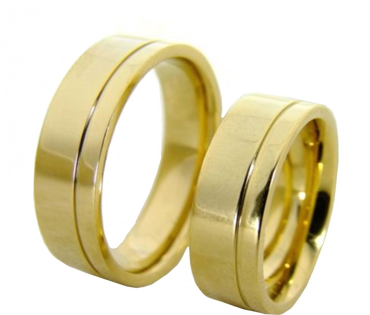 98a5e7dd37130 Par de aliança ouro 18k³ - O Garimpo - vitrine online